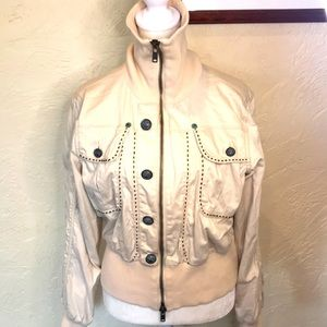 House of Dereon cream colored crop jacket, L